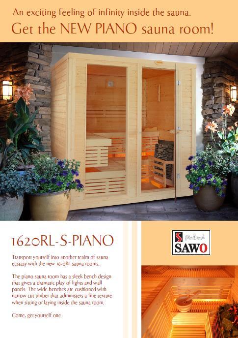 Piano - Nowa kabina sauny wSawo