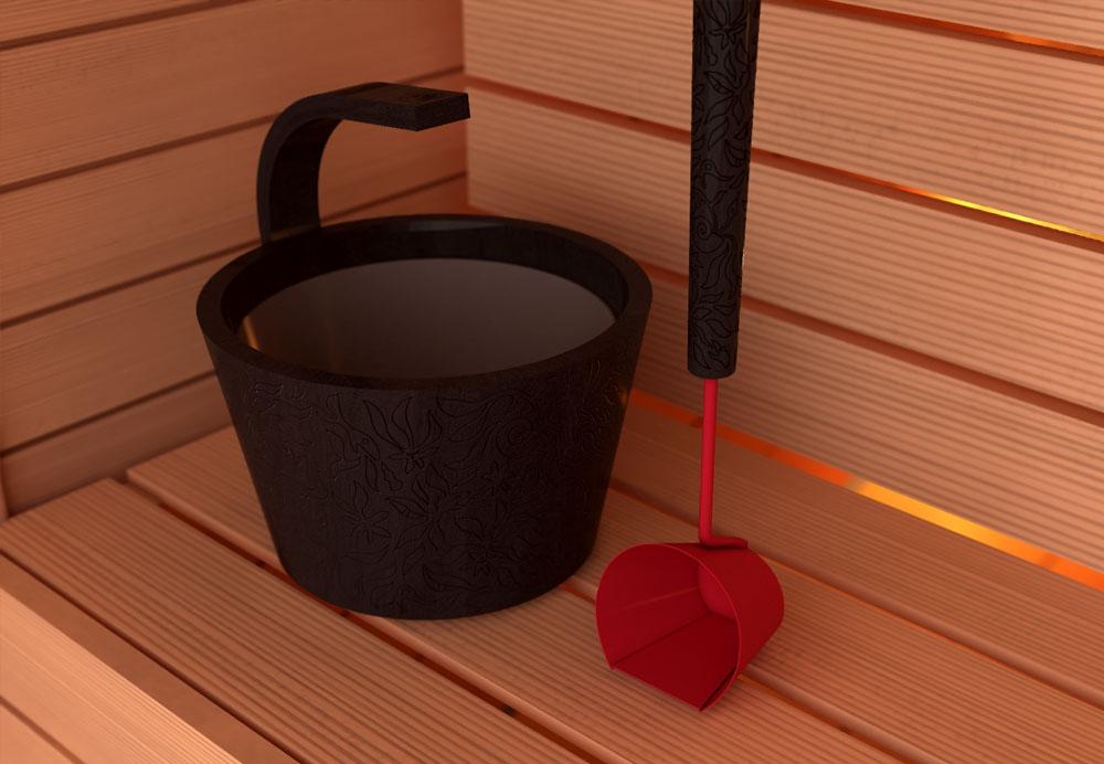 cebrzyk drewniany do sauny Sawo zkloekcji dragonfire