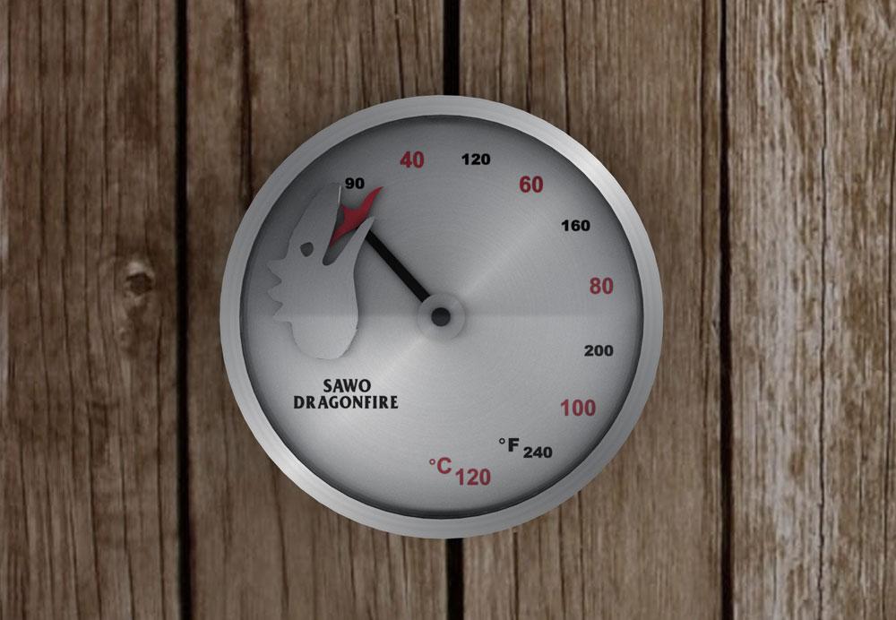 termometr Sawo zkloekcji dragonfire