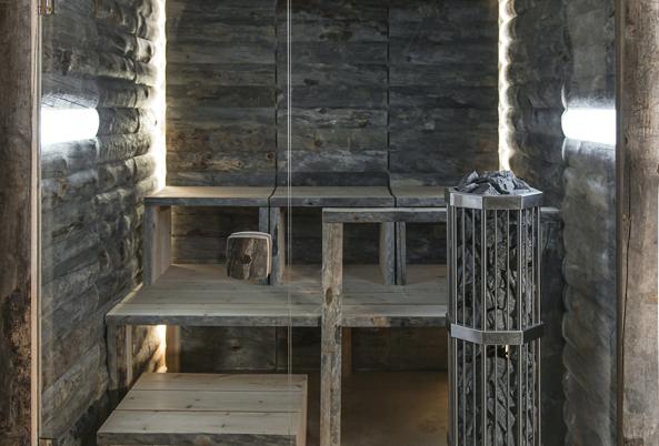 Sauna Kelo piękna inaturalna