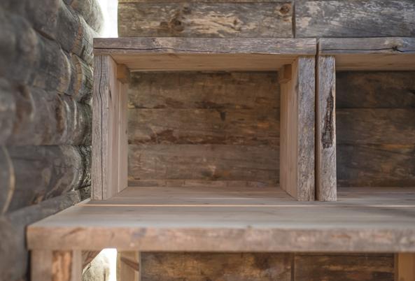 Kelo sauna stare drewno wnowej formie