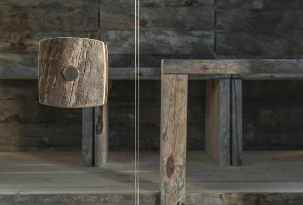 Najpiękniejsza sauna Kelo ze starego drewno