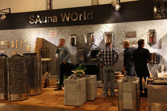 Stoisko firmy Sawo na Habitare 2014