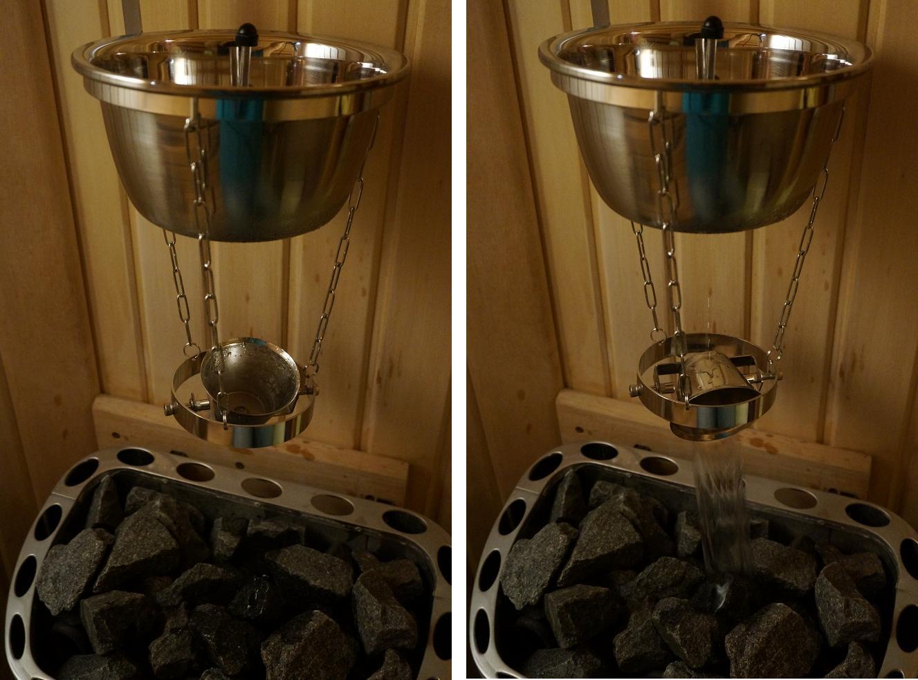 sauna polewajka automatyczna polewaczka kamieni wpiecu do sauny